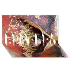 Red Mask Best Bro 3d Greeting Card (8x4)