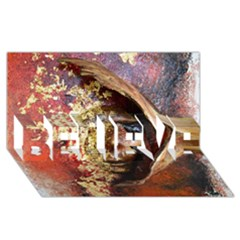 Red Mask BELIEVE 3D Greeting Card (8x4)