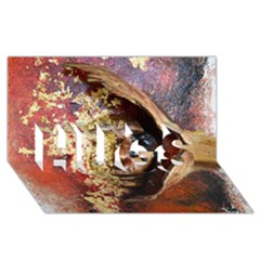 Red Mask Hugs 3d Greeting Card (8x4)