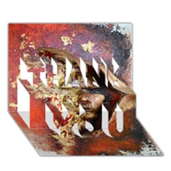 Red Mask THANK YOU 3D Greeting Card (7x5)
