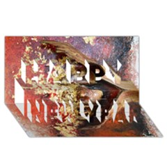 Red Mask Happy New Year 3d Greeting Card (8x4)