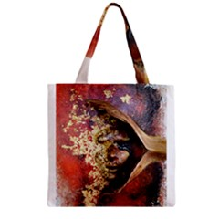 Red Mask Zipper Grocery Tote Bags