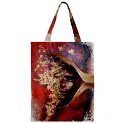 Red Mask Zipper Classic Tote Bags