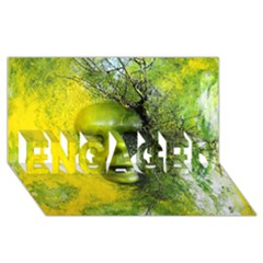 Green Mask ENGAGED 3D Greeting Card (8x4)