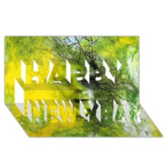 Green Mask Happy New Year 3D Greeting Card (8x4)