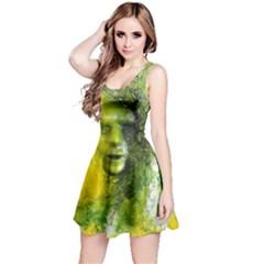 Green Mask Reversible Sleeveless Dresses