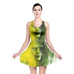 Green Mask Reversible Skater Dresses