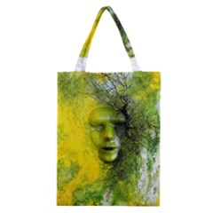 Green Mask Classic Tote Bags