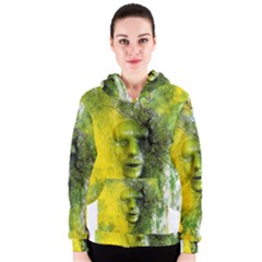 Green Mask Women s Zipper Hoodies