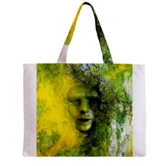 Green Mask Zipper Tiny Tote Bags