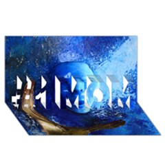 BLue Mask #1 MOM 3D Greeting Cards (8x4)