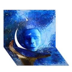 Blue Mask Circle 3d Greeting Card (7x5)