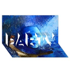 BLue Mask PARTY 3D Greeting Card (8x4)