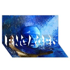 BLue Mask ENGAGED 3D Greeting Card (8x4)