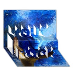 BLue Mask You Rock 3D Greeting Card (7x5)