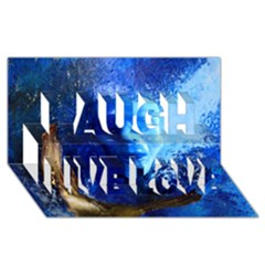 BLue Mask Laugh Live Love 3D Greeting Card (8x4)