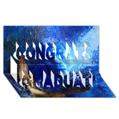 Blue Mask Congrats Graduate 3d Greeting Card (8x4)