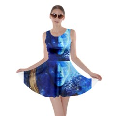 BLue Mask Skater Dresses