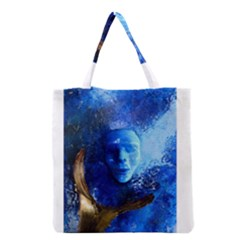 Blue Mask Grocery Tote Bags