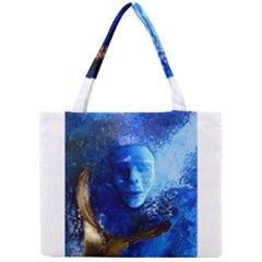 BLue Mask Tiny Tote Bags
