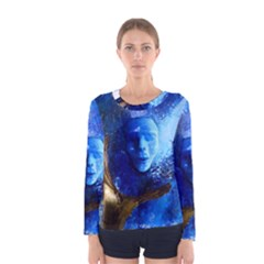 BLue Mask Women s Long Sleeve T-shirts