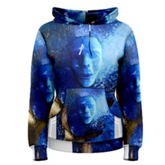 BLue Mask Women s Pullover Hoodies