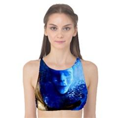 Blue Mask Tank Bikini Top