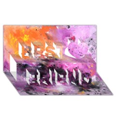Nebula Best Friends 3D Greeting Card (8x4)
