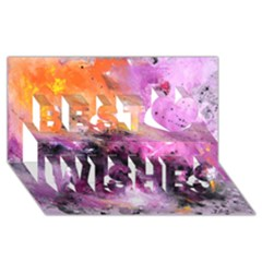 Nebula Best Wish 3D Greeting Card (8x4)