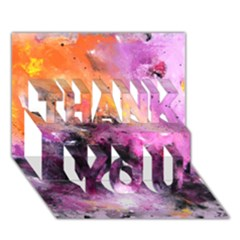 Nebula THANK YOU 3D Greeting Card (7x5)