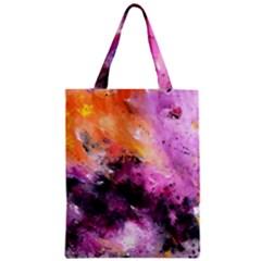 Nebula Zipper Classic Tote Bags