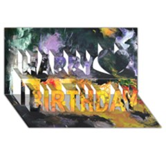 Space Odessy Happy Birthday 3D Greeting Card (8x4)