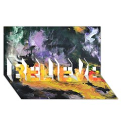 Space Odessy BELIEVE 3D Greeting Card (8x4)