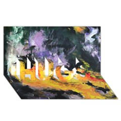 Space Odessy Hugs 3d Greeting Card (8x4)