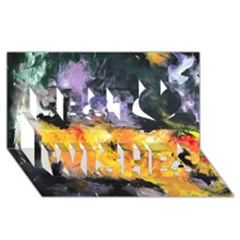 Space Odessy Best Wish 3D Greeting Card (8x4)