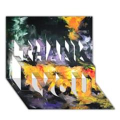 Space Odessy THANK YOU 3D Greeting Card (7x5)
