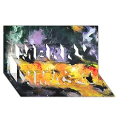 Space Odessy Merry Xmas 3D Greeting Card (8x4)