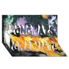 Space Odessy Congrats Graduate 3D Greeting Card (8x4)
