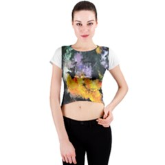 Space Odessy Crew Neck Crop Top