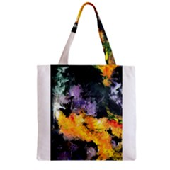 Space Odessy Zipper Grocery Tote Bags