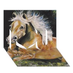 Mustang I Love You 3D Greeting Card (7x5)