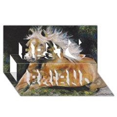 Mustang Best Friends 3d Greeting Card (8x4)