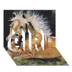 Mustang GIRL 3D Greeting Card (7x5)