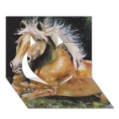 Mustang Heart 3D Greeting Card (7x5)