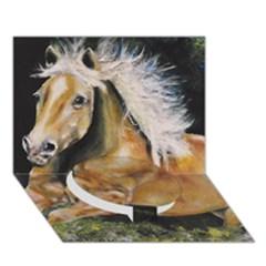 Mustang Circle Bottom 3d Greeting Card (7x5)