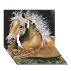 Mustang Apple 3D Greeting Card (7x5)