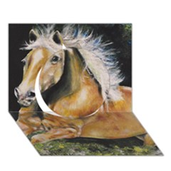 Mustang Circle 3D Greeting Card (7x5)