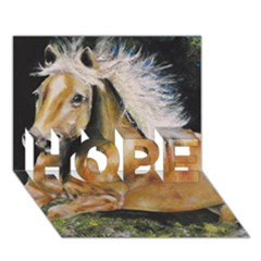 Mustang Hope 3d Greeting Card (7x5)