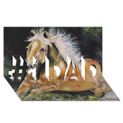 Mustang #1 DAD 3D Greeting Card (8x4)