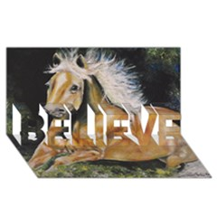 Mustang BELIEVE 3D Greeting Card (8x4)